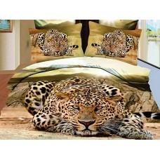 Комплект постельного белья Cheetah сатин 3D эффект