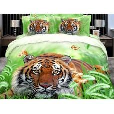 Комплект постельного белья Tiger сатин 3D эффект