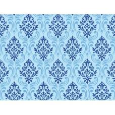 """Детское одеяло """"Blue"""" силикон размер 110x140 одинарное синее с узорами"""