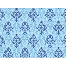 Детское одеяло Гоби силикон синее с узорами