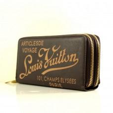 """Брендовый кошелек коричневый """"Louis Vuitton"""" кожзам  размер 200x100"""