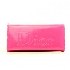 """Брендовый кошелек малиновый """"Dior"""" кожзам размер 180x90"""