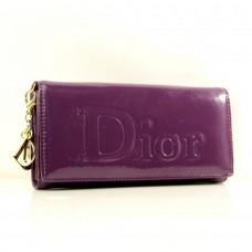 Брендовый кошелек фиолетовый Dior кожзам