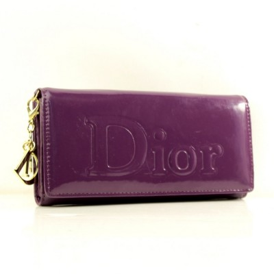 """Брендовый кошелек фиолетовый """"Dior"""" кожзам размер 180x90"""