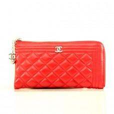 """Брендовый кошелек """"Chanel"""" красный кожзам размер 240x120"""