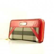 """Брендовый кошелек """"Burberry"""" красный кожзам размер 200x90"""