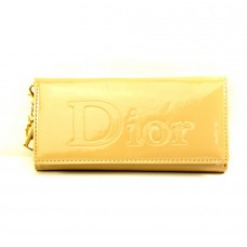 """Брендовый кошелек бежевый """"Dior"""" кожзам размер 180x90"""