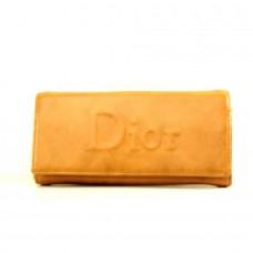 """Брендовый кошелек коричневый """"Dior"""" кожзам на защелке размер 180x90"""