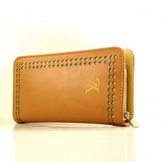 """Брендовый кошелек """"Louis Vuitton"""" оранжевый кожзам размер 210x110"""