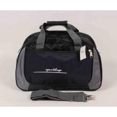 Дорожная сумка черная текстиль размер 430x280x190