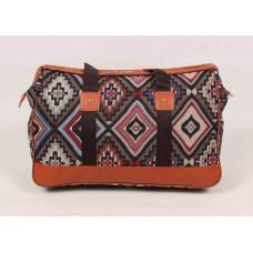 Дорожная сумка с узорами текстиль размер 520x330x180
