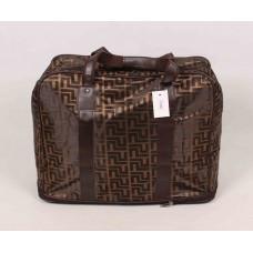 Дорожная сумка коричневая текстиль размер 500x350x250