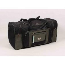 Дорожная сумка Dingda черно-серого цвета текстиль