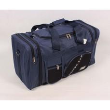 Дорожная сумка синяя текстиль размер 630x350x290