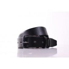 Мужской ремень большого размера (батал) Cardi черный натуральная кожа Lazar