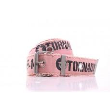 Ремень унисекс Talbot розовый текстиль-резинка