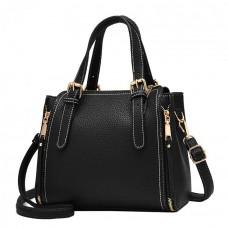 Женская сумка Amelie Black экокожа черная