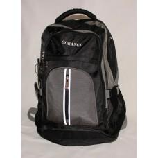 Мужской рюкзак Gorangd черный нейлон размер 470x310x240
