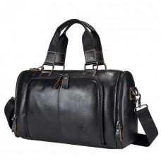 Мужская сумка Laoshizi Luosen CD черная натуральная кожа ручная работа