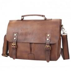 Мужская сумка Texas Pos коричневая натуральная кожа ручная работа