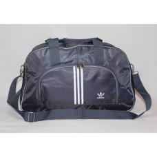 Спортивная сумка Adidas серая с полосками текстиль