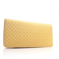 Женский кошелек бежевый кожзам размер 210x100