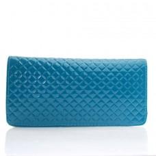 Женский кошелек голубой кожзам размер 210x100