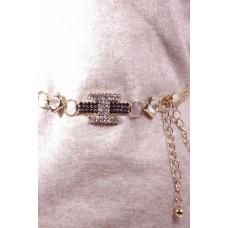Женский пояс-цепочка Серафима металл золотого цвета