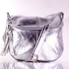 Женская сумка Miko серебристая (Италия)