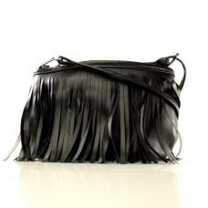 Женская сумочка Олимпиада черная кожзам