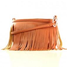 Женская сумочка Ника коричневая кожзам