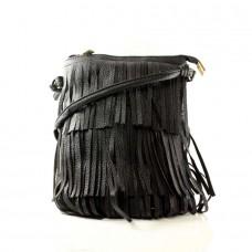 Женская сумочка Пелагея черная кожзам