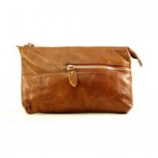 Женская сумочка через плечо Алкидика коричневая
