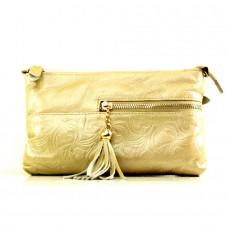 Женская сумочка через плечо Алкимеда золотого цвета