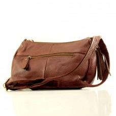 Женская сумочка через плечо Агния коричневая