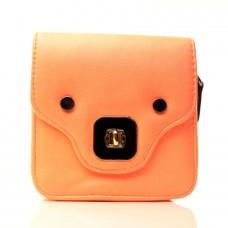 Женская сумочка-клатч оранжевая кожзам размер 140x70x160