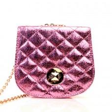 Женская сумочка-клатч розовая кожзам  размер 150x60x130