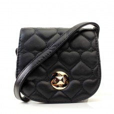 Женская сумочка-клатч черная кожзам  размер 150x60x130