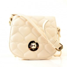 Женская сумочка-клатч бежевая кожзам размер 150x60x130