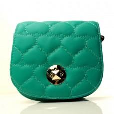 Женская сумочка-клатч зеленая кожзам размер 170x10x150