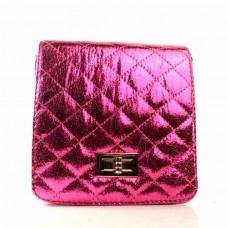 Женская сумочка-клатч малиновая кожзам  размер 160x60x170