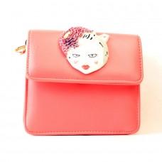 Женская сумочка-клатч светло-оранжевая кожзам размер 160x80x170