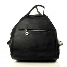 Женская сумка рюкзак Астерия черная кожзам