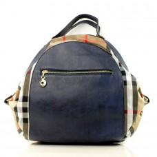 Женская сумка рюкзак Афина синяя кожзам