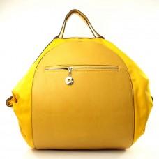 Женская сумка рюкзак Гармония желтая кожзам