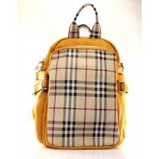 Женский рюкзак желтый кожзам размер 220x120x330