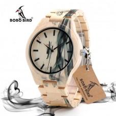 Мужские бамбуковые часы Bobo Bird Fire