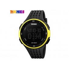 Мужские спортивные часы Skmei черно-желтого цвета