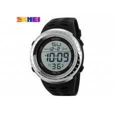 Мужские спортивные часы Skmei серо-черного цвета