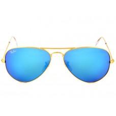 Мужские зеркальные солнцезащитные очки Ray-Ban Aviator Blue